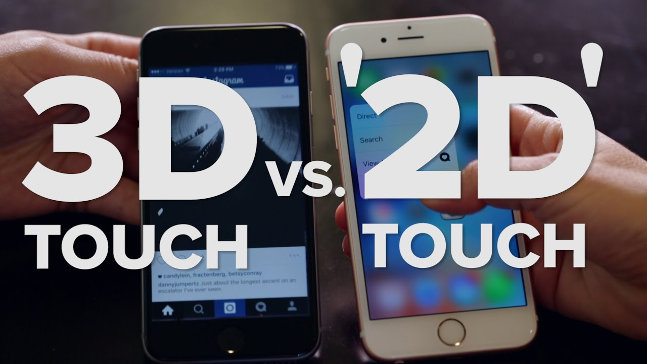 3D Touch on the iPhone 6S vs. '2D Touch' on iPhone 6 - YouTube