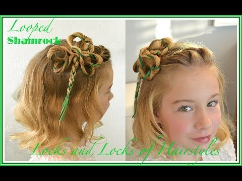 St Patricks Day Hairstyles Side Swept Shamrock YouTube