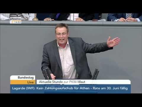 Bundestag: Aktuelle Stunde zur Pkw-Maut mit Alexander Dobrindt am 18.06.2015