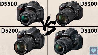 Nikon D5500 vs D5300 vs D5200 vs D5100 | In-Depth Comparison