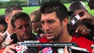 "Tim Tebow speaks about Aaron Hernandez: ""Heartbreaking and Sad"" (Full interview HD)"