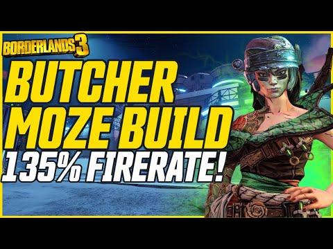 NEW MOZE BUILD! Insane Fire Rate & Damage! // Borderlands 3 Level 72 Butcher Moze Build