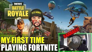 My FIRST Time Playing FORTNITE! | RAAAAGE!