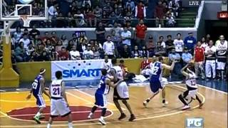 """GINEBRA VS PETRON - HELTERBRAND""""S NEVER SAY DIE CLUTCH SHOTS IN THE 4TH Q"""