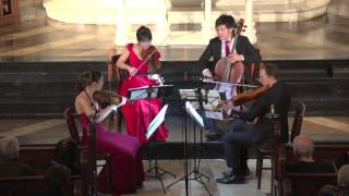 "Attacca Quartet plays Haydn Op. 76 no. 2 ""Fifths"" -- Third Movement"