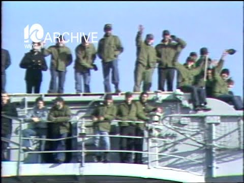 WAVY Archive: 1981 Family Joining Uss John F Kennedy