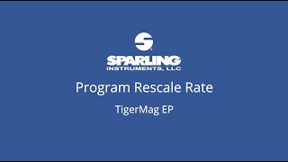 How To     TigerMag EP - Program Rescale Rate
