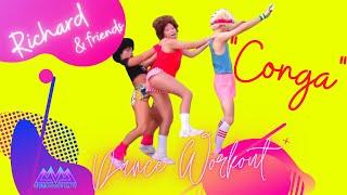 "Funny Richard Simmons *Dance Workout* ""CONGA"" Gloria Estefan- Awesome Cardio Dance Fitness"