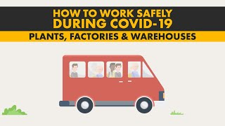 How to work safely in plants, factories, and warehouses during coronavirus (COVID-19)