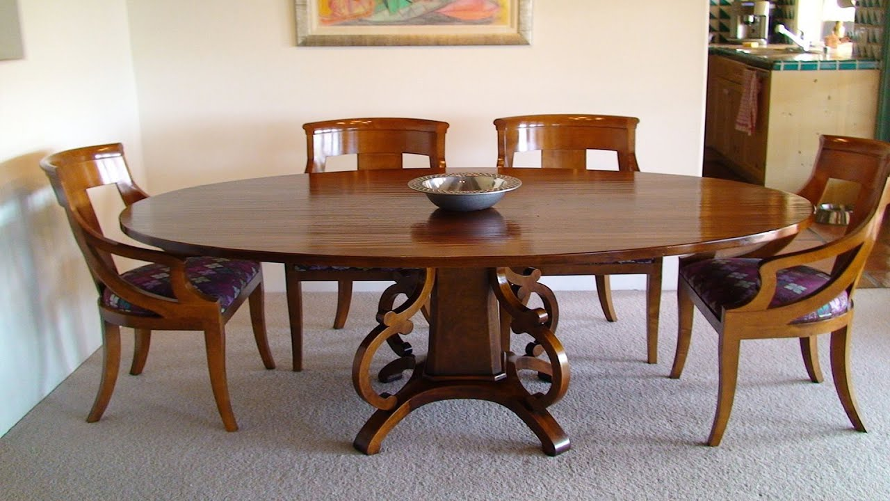 Best Designs Of Wooden Round Dining Table For Family Youtube