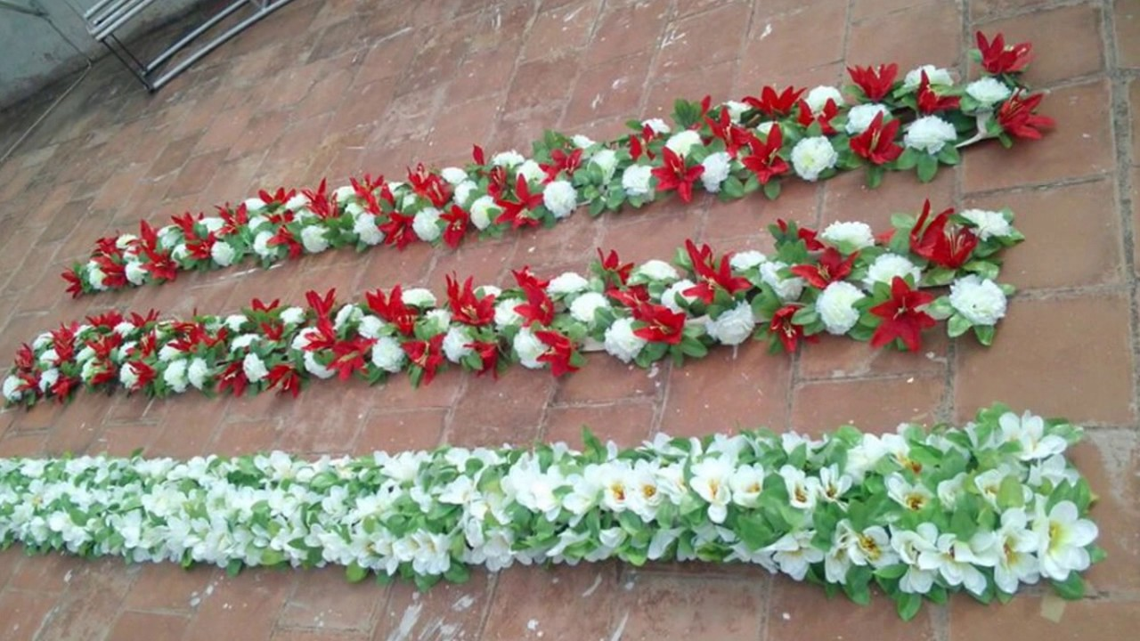Madurai decorators artificial running flower for wedding decoration madurai decorators artificial running flower for wedding decoration youtube junglespirit Gallery