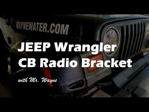 JEEP Wrangler CB Radio Install - YouTube