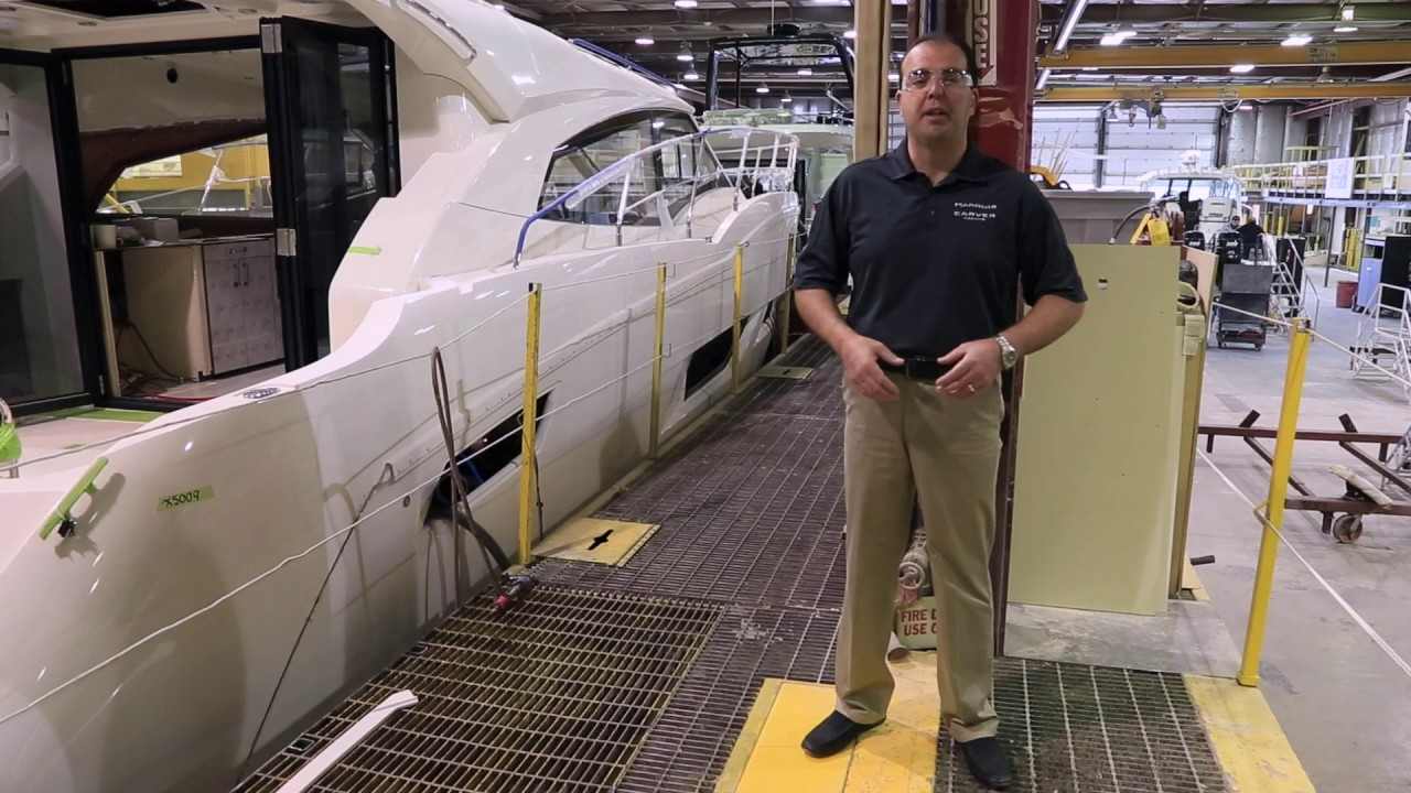 Carver Yachts Shipyard:  Manufacturing Line  - Buy American
