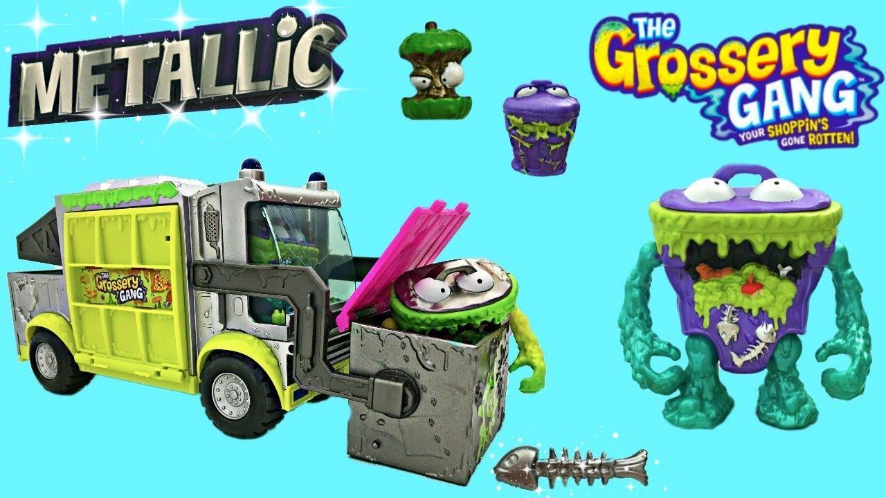 Grossery Gang Garbage Truck Metallic Trash Attack Pack