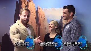 2017 Golden Skate Interview with Alexa Scimeca Knierim & Chris Knierim