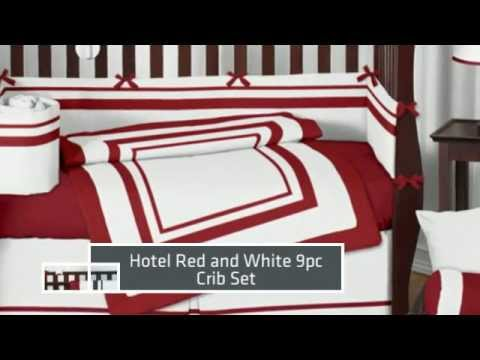 White And Red Hotel Baby Bedding By Sweet Jojo Designs