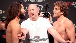 BEN ASKREN VS JORGE MASVIDAL ALMOST THROW DOWN AT UFC 239 WEIGH INS