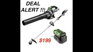 Deal Alert | EGO 56 Volt Trimmer & Blower Combo kit w/ Battery $199