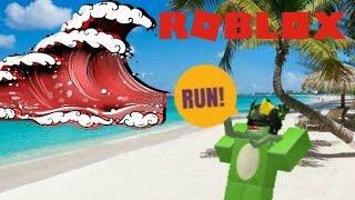 LAVA TSUNAMI!! Roblox Tsunami Survival (BETA)