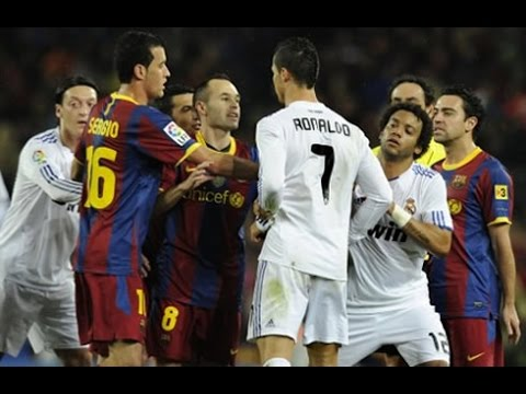 The Dirty Side Of El Clasico Fights, Fouls, Dives  Red Cards