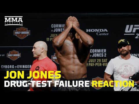 Jon Jones Drug-Test Failure Reaction - MMA Fighting