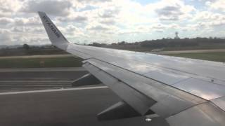 HD Ryanair Boeing 737-800 takeoff at Girona Costa-Brava Airport 28th August 2015
