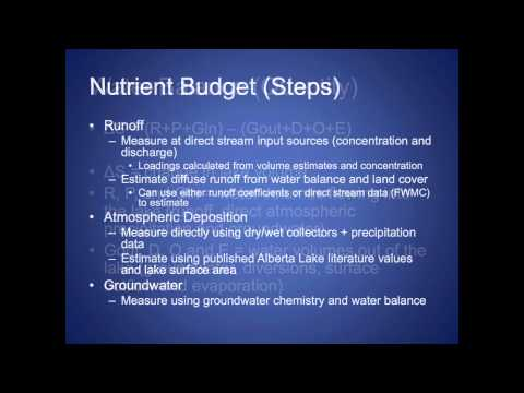 Chris Teichreb - Development and Use of Nutrient Budgets