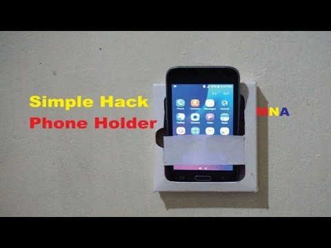 Home Made Craft Create Phone Holder Project lottery art how to easy
