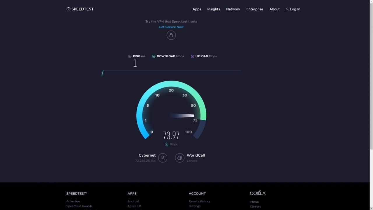 Imon Speed Test