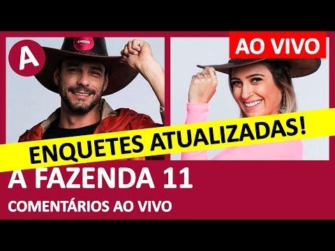 A FAZENDA 11: ÚLTIMAS ENQUETES! Diego Grossi ou Tati Dias? Quem fica? - COMENTÁRIOS AO VIVO thumbnail