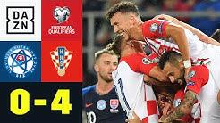 Ivan Perisic trifft, Vizeweltmeister erobert Platz 1: Slowakei - Kroatien 0:4   EM-Quali   DAZN