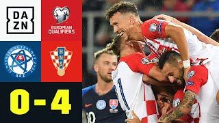 Ivan Perisic trifft, Vizeweltmeister erobert Platz 1: Slowakei - Kroatien 0:4 | EM-Quali | DAZN