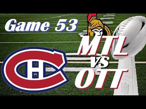 NHL - Montreal Canadiens vs Ottawa Senators - Super Bowl Matinee! - February 4, 2018