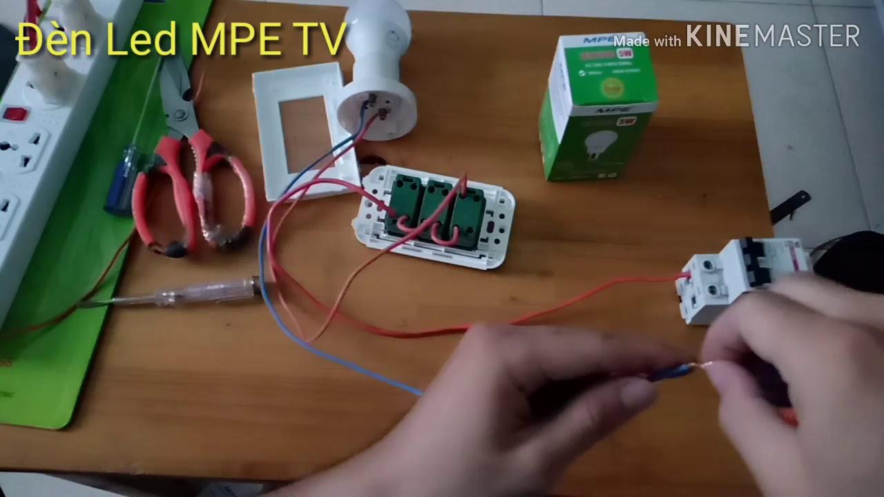 Hướng dẫn cách đấu 3 công tắc đèn Panasonic dễ hiểu | Đèn Led MPE TV