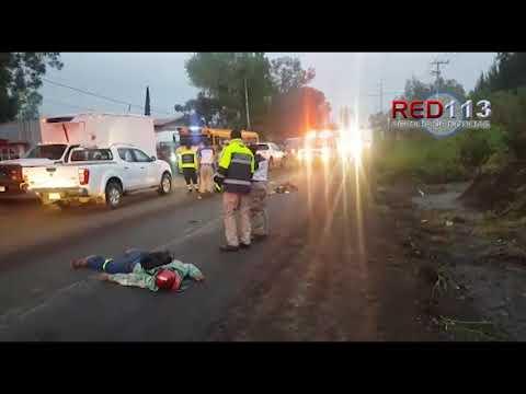 VIDEO Dos jóvenes mueren arrollados en el Libramiento Sur de Jacona