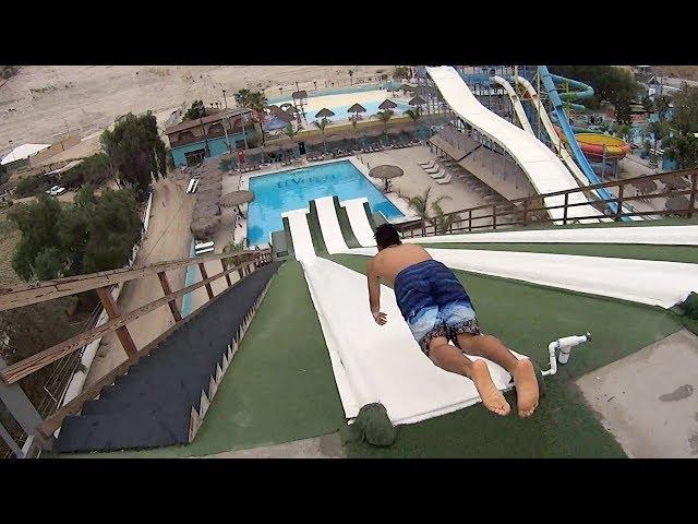 Slip N Fly Water Slide at Albercas El Vergel
