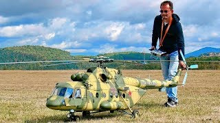 STUNNING GIGANTIC XXXL Mil Mi-8 AMT RC TURBINE SCALE MODEL RUSSIAN HELICOPTER FLIGHT DEMONSTRATION(, 2018-09-01T06:00:01.000Z)