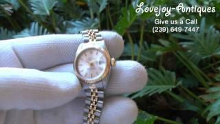 Ladies Rolex Datejust Watch 18k/SS  69173 1998