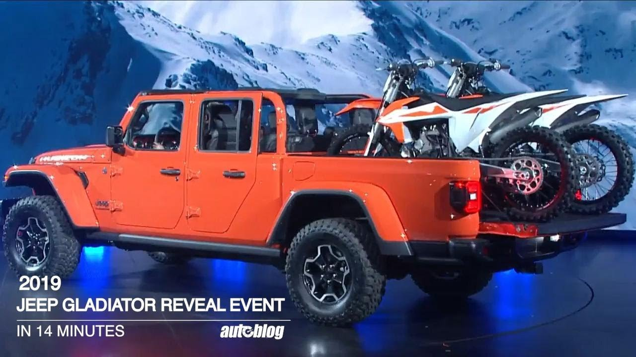 Jeep Gladiator L A Auto Show Reveal In Just 14 Minutes Youtube