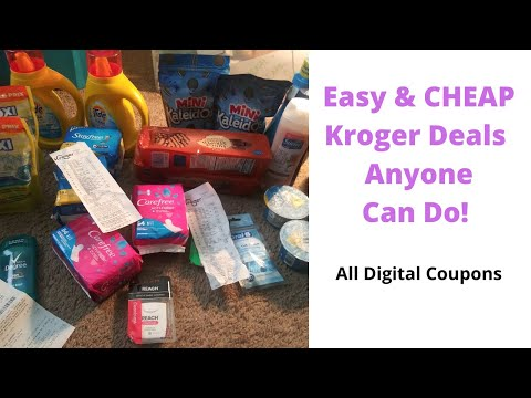 EASY KROGER COUPON DEALS *ALL DIGITAL COUPONS* BEGINNER FRIENDLY || #chaninalindsey