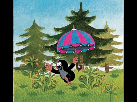 Мультфильм кротик и зонтик