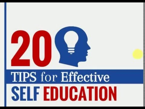 20 Tips for Effective and Easy Self Education