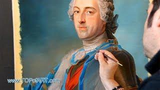 Maurice de La Tour - Portrait of Louis XV of France | Art Reproduction Oil Painting
