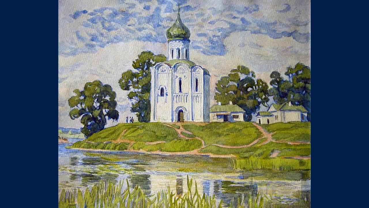 Рисунки карандашом церковь и природа