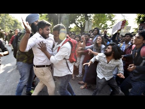 AISA, ABVP clash over cancellation of Umar Khalid's event at Ramjas College