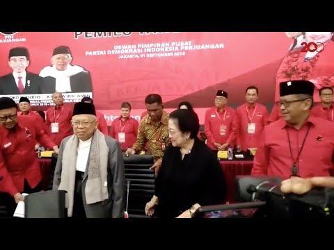 Megawati: Rakornas PDIP Istimewa Karena Ada Ma'ruf Amin