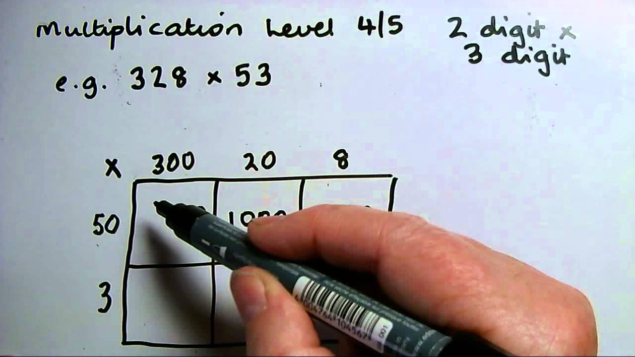 L4 To 5 Multiplying Grid Method 3 Digit By 2 Digit Av Youtube