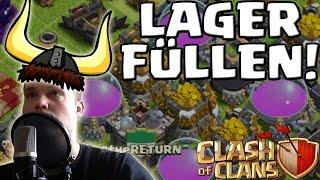 [facecam] LAGER FÜLLEN! || CLASH OF CLANS|| Let's Play CoC [Deutsch/German HD]