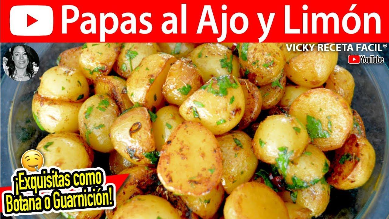 PAPAS AL AJO Y LIMON | Vicky Receta Facil