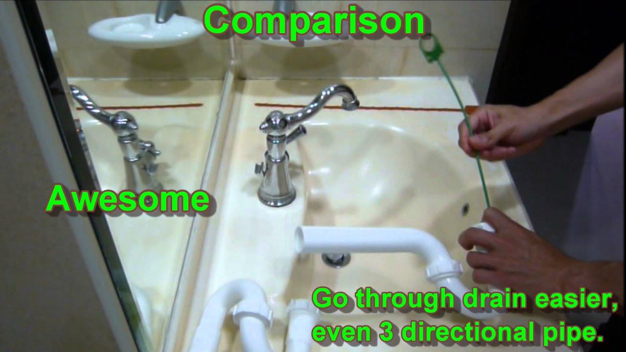 Tornado Plastic Stick Drain Cleaning Tool, Hair Removal, Hair Clog Tool B